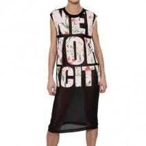 3.1 Phillip Lim New York City Bedrucktes Chiffonkleid