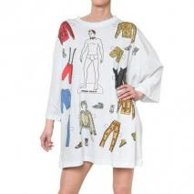 Adidas By Jeremy Scott Jeremy Scott Oversized Jersey Tee Kleid