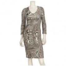 Airfield Kleid Mit Bügelnieten/-Strasssteinen Beige