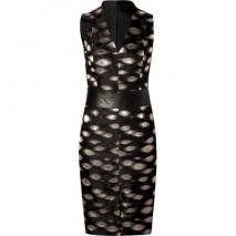 Akris Black and Gold Jacquard Dress