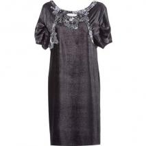 Alberta Ferretti Black/Silver Sequined Dress