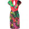 Alberta Ferretti Multicolor Draped Jersey Dress