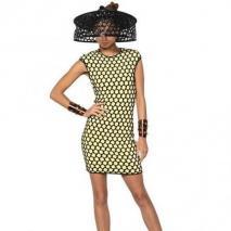 Alexander McQueen 3D Maschen-Viskose-Jacquard-Kleid Grün