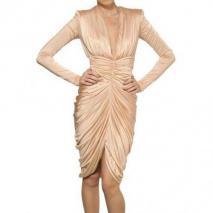 Alexander McQueen Drapiertes Viskose Jersey Kleid