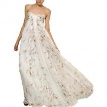 Alexander McQueen Langes Kleid Aus Seidenchiffon Mit Libellendruck