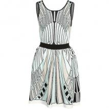 Alice McCall Ines Strickkleid black/white/mint