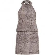 American Retro Daisy Dress Sommerkleid grey print