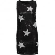 Amor & Psyche Cocktailkleid / festliches Kleid schwarz mit Sternen