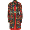 Anna Sui Brick Multi Bamboo Floral Print Kleid