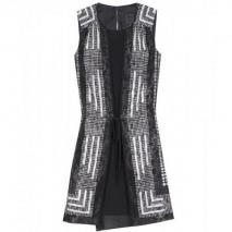 Anna Sui Grid Scarf Print Kleid