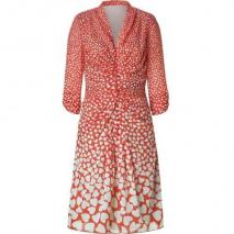 Anna Sui Lipstick Draped Kleid with 3/4 Sleeves