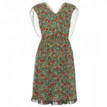 Anna Sui Seidenkleid Blumenmuster