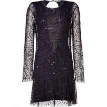 Antik Batik Black Bead and Sequin Embellished Dress