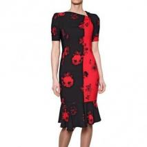 Antonio Marras Druck Techno Crepe De Chine Kleid