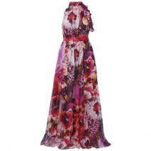 Apart Ballkleid pink mit Blumenmuster