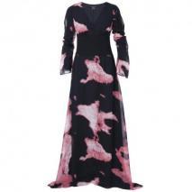 Apart Blusenkleid Schwarz und pink