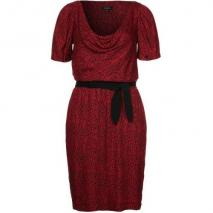 Axara Jerseykleid rouge Schleifen