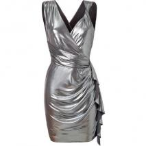 Bailey 44 Silver Draped Annihilator Dress