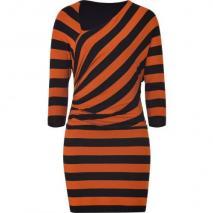 Bailey 44 Tomato/Black Striped Dress