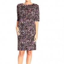 Balenciaga Short sleeve jersey magma print tunic dress