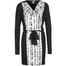 Bandolera Jerseykleid Weiß Schwarz