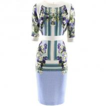 Berardi White Garden Print Dress