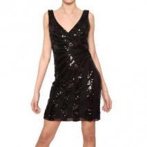 Blugirl Pailletten Nylon Netz Kleid