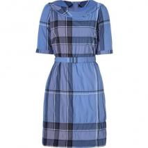 Burberry Brit Iris Blue Check Crinkle Cotton Kristie Kleid