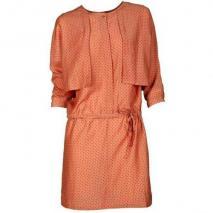 Bzr Kleid mit All-Over-Muster rose