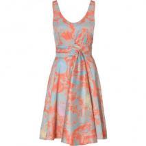 Cacharel Tangarine/ Blue Printed Cotton Kleid
