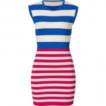 Camilla and Marc Royal Blue/Fuchsia Knit Exemption Dress