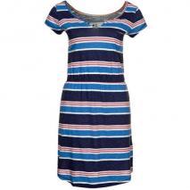 Campus gestreiftes Sommerkleid blau