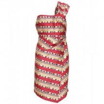 Carven Jacquard One-Shoulder-Kleid