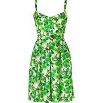 Collette by Collette Dinnigan Emerald Printed Silk Dress