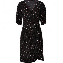 Collette by Collette Dinnigan Red/Ecru Dotted Black Jersey Wrap Dress
