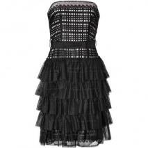 Collette Dinnigan Black Strapless Lace Dress
