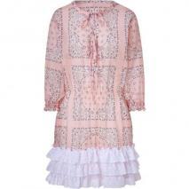 D&G Dolce & Gabbana Pale Rose Smocked Waist Kleid