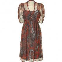 Day Birger et Mikkelsen Aboriginal Orange Paisley Print Dress Ashley