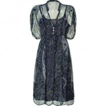 Day Birger et Mikkelsen Unblack/Blue Paisley Print Dress Ashley