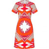 Derek Lam Sunset Multi Graphic Print Cotton Dress