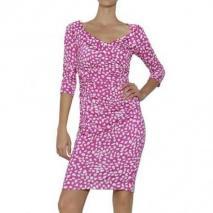 Diane von Furstenberg Drapiertes Und Bedrucktes Seiden Jersey Kleid