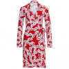 Diane von Furstenberg Kleid New Jeanne Two rot