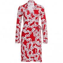 Diane von Furstenberg Kleid New Jeanne Two rot