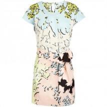 Diane von Furstenberg Seidenkleid Pastell