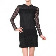 Diane von Furstenberg Stretch Spitze Langärmeliges Kleid