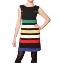 Didier Parakian Multifarbenes Gestreiftes Stretch Jersey Kleid