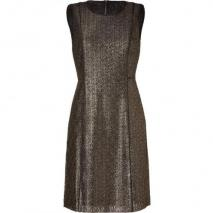 DKNY Black/Antique Gold Lace Kleid