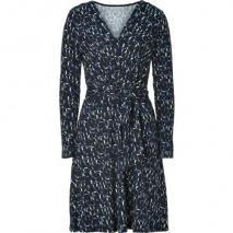 DKNY Cadet Blue Cube Print Kleid