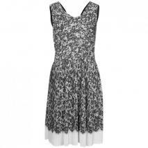 Dkny Cocktailkleid / festliches Kleid black/ivory Ärmellos
