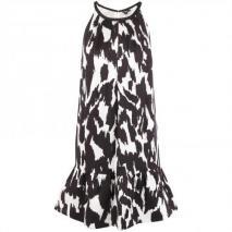DKNY Seidenkleid Schwarz-Weiß